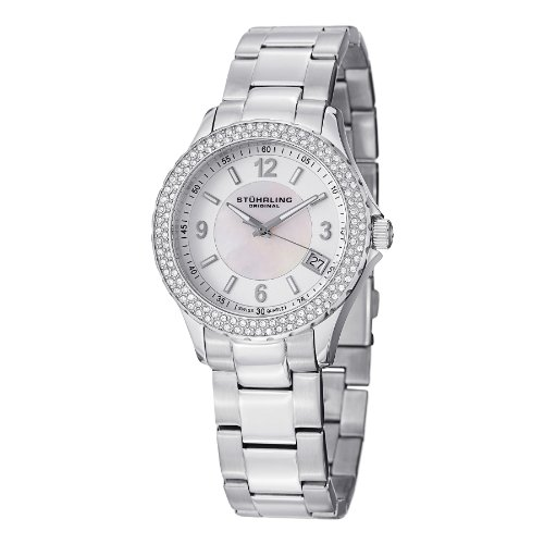 - Stuhrling Original Women's 887.01 Vogue Iris Analog Display Swiss Quartz Silver Watch
