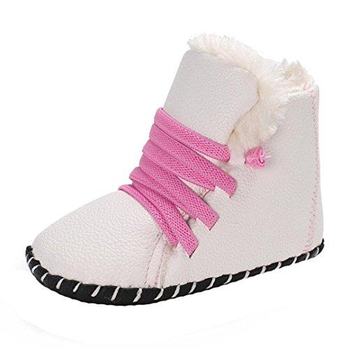 Baby Stiefel, BZLine® Baby Weiche Sohle Schneeschuhe Krippe Kleinkind Stiefel Weiß