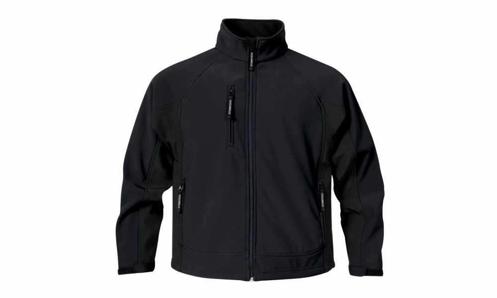 Stormtech Mens Bonded Jacket - Black/Black - Large