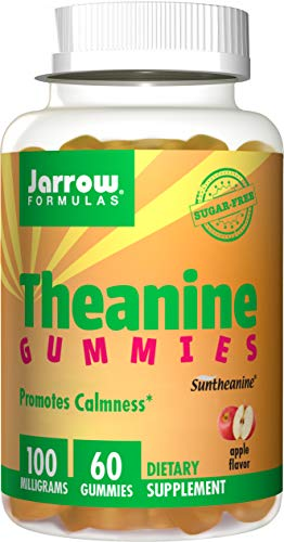 (Jarrow Formulas Theanine Gummies for Children, Promotes Learning & Calmness, 100 mg Gummies, 60)