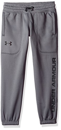 Under Armour Boys Fleece Jogger,Graphite /Black, Youth X-Small by Under Armour (Image #1)