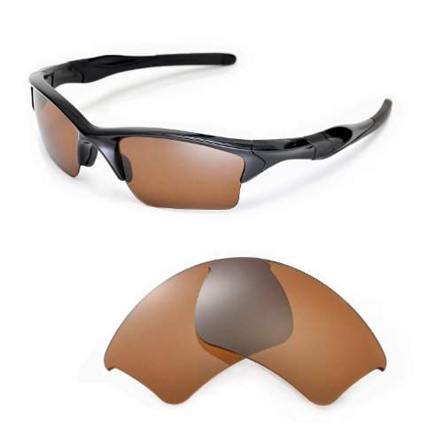 Walleva Replacement Lenses 4 Oakley Half Jacket 2.0 XL Sunglasses - Multiple Options (Brown - - 2 Oakley 1 Lenses 4