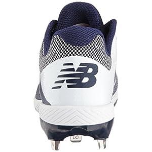 New Balance Men's L4040v4 Metal Baseball Shoe, Navy/White, 10 D US
