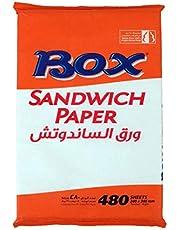 Sandwich Papper By Box, 480 Sheets, White