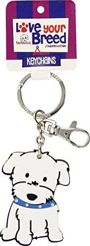 Maltese Keychain - Love Your Breed Acrylic Keychain, Mediumaltese