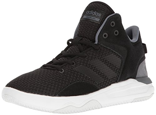 adidas NEO Men's Cloudfoam Revival Mid Basketball-Shoes, Black/Black/Onix, 10.5 M (Sport Mid Basketball Shoe)
