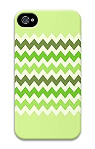 iPhone 4 4S Case Awesome Green Chevron Best 3D Custom iPhone 4 4S Case Cover