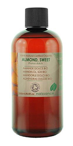 Bio Mandelöl - 100% reines kaltgepresstes Öl - Organisch zertifiziert - 250ml