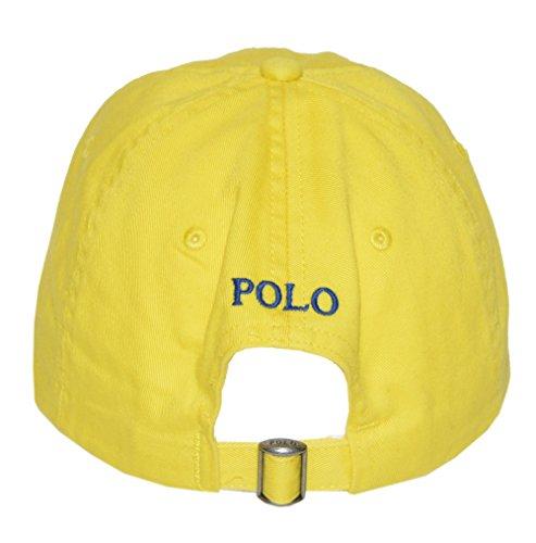 Polo-Ralph-Lauren-Men-Pony-Logo-Adjustable-Sport-Hat-Cap-One-size-Lemon-crush