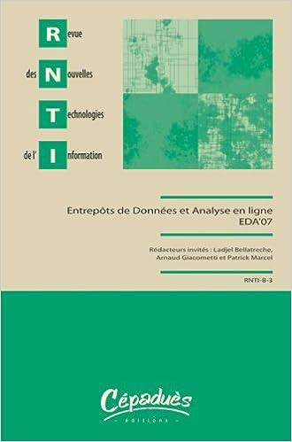 Lire Revue des Nouvelles Technologies de l'Information : Entrepôts de données et analyse en ligne pdf, epub ebook