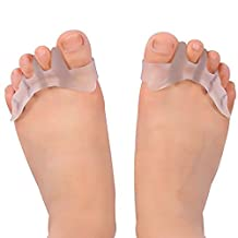 Gel Toe Separator Toe Spacers Toe Stretchers for Men and Women Easy Wear in Shoes for Bunion Relif Toe Straightener & Quickly Alleviating Pain After Yoga and Sports Activities