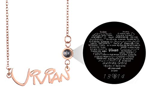 HUAN XUN I Love You Custom My Name Necklace Girlfriend Jewelry Gifts Valentine Gift - New Name Necklace