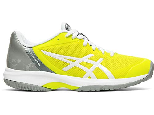 ASICS Women's Gel-Court Speed Tennis Shoes, 9M, Safety Yellow/White