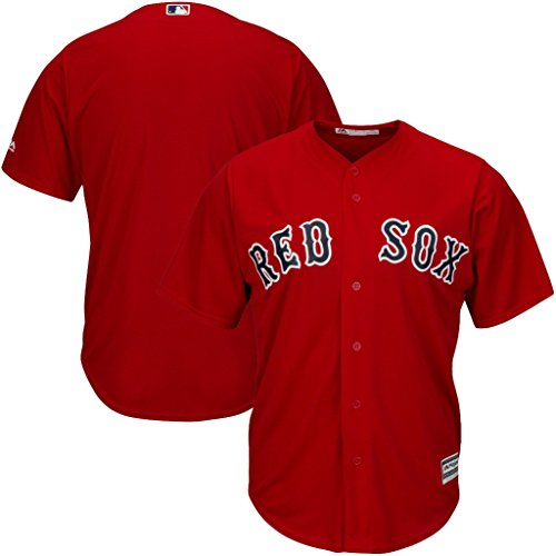 Boston Red Sox MLB Mens Majestic Cool Base Replica Jersey Red Big & Tall Sizes (XLT)