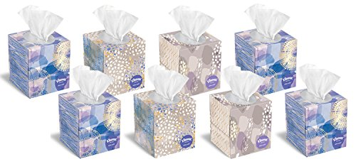 Kleenex Tissues, Ultra Soft Cube Box, 85 Count Each (Family Pack of 8)]()