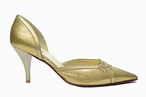Melluso Decolte' scarpe donna oro eleganti E863