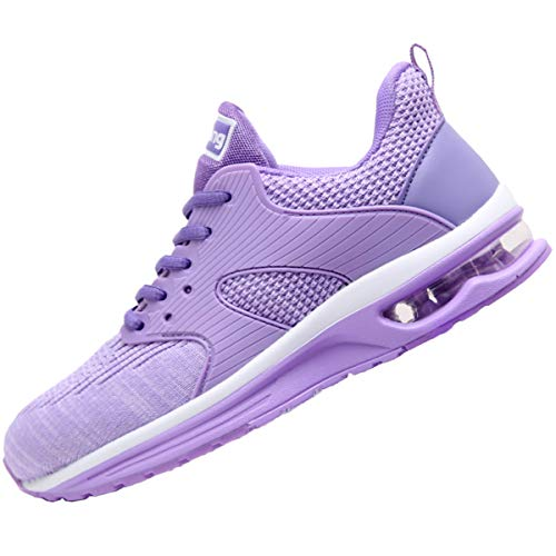 Womens Comfortable Fashion Sneakers AirAthleticTennis Casual Sport RunningShoes Purple 7.5 B(M) US