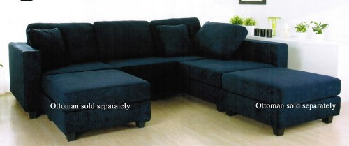 Incredible Amazon Com Sectional Sofa With Block Feet In Navy Blue Download Free Architecture Designs Xerocsunscenecom