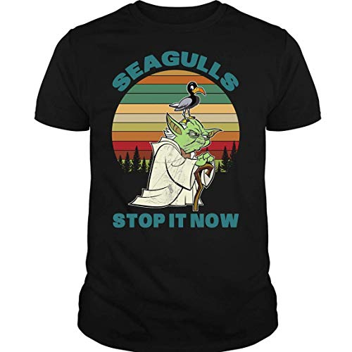 Seagulls Stop It Now Shirt, A Bad Lip Reading of The Empire Strikes Back Shirt Black