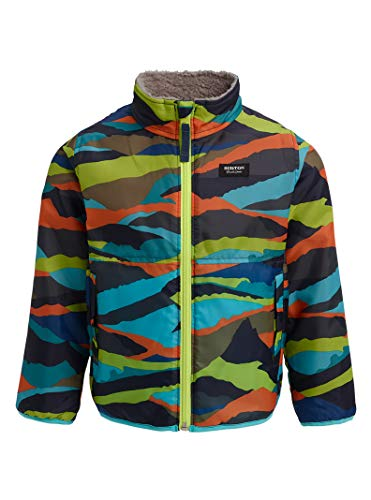 Summit Insulated Jacket - Burton Kids & Baby Toddler Snooktwo Reversible Jacket, Summit Stripe/Sterling, 2T