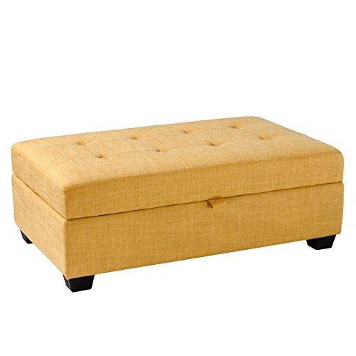 CorLiving Antonio Lad-184-O Button Tufted Fabric Storage Ott