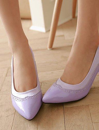 GGX/Damen Schuhe Stiletto Ferse/spitz Heels Büro & Karriere/Kleid Schwarz/Grün/Lila/Rot/Silber/Beige purple-us1.5 / eu31 / uk0.5 / cn30
