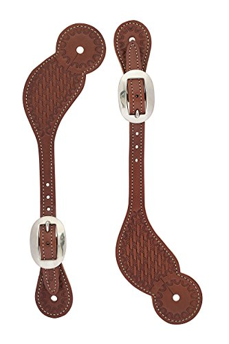 (Weaver Leather Basketweave Skirting Leather Spur Straps)