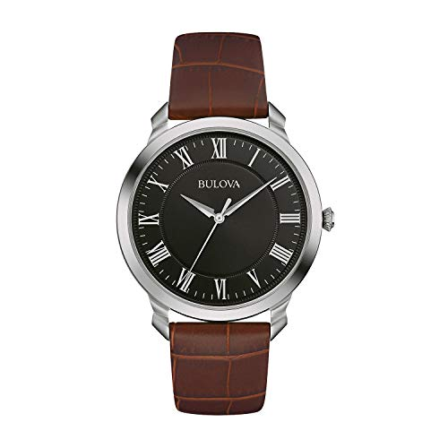 Bulova Men's Quartz Stainless Steel and Brown Leather Dress Watch (Model: ()