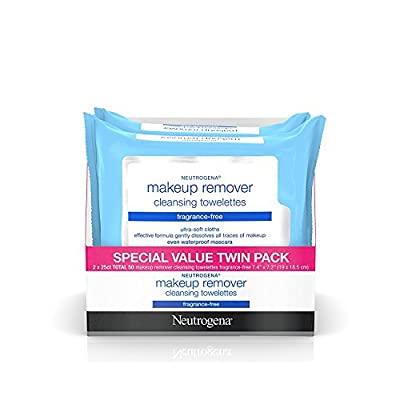 Neutrogena Cleansing Fragrance Free Makeup Remover Facial Wipes