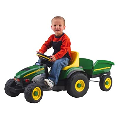 Peg Perego John Deere Farm Tractor and Trailer: Toys & Games