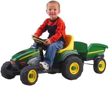 Amazon.com: Tractor y remolque de granja John Deere de Peg ...