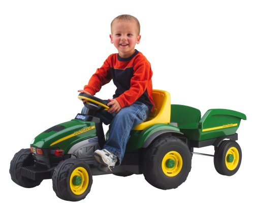 Peg Perego John Deere Farm Tractor & Trailer (Power Wheels Tractor compare prices)