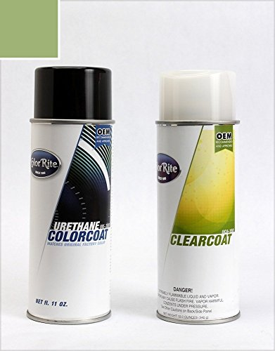 ColorRite Aerosol Volkswagen Passat Automotive Touch-up Paint - Fresco Green Metallic Clearcoat LA6W/3P - Color+Clearcoat Package