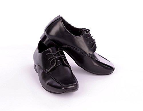 Für Kleinkinder und die älteren Jungen schwarzen Smart V-förmige Formelle Schuhe für Kleinkinder 4 auf älteren Jungen 5