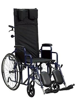 Silla de ruedas plegable con respaldo reclinable: Amazon.es ...