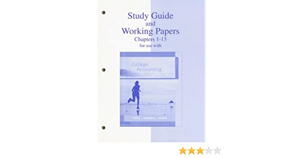 Amazon.com: Study Guide & Working Papers Ch 1-13 to accompany ...