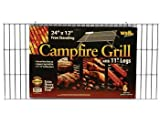Campfire Grill Grid with Folding Legs, 12''x24''