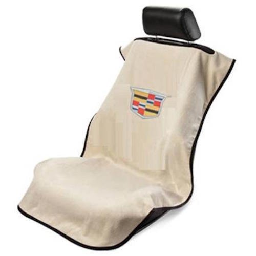 Cadillac Logo Tan Seat Cover Armour Towel Removable Over