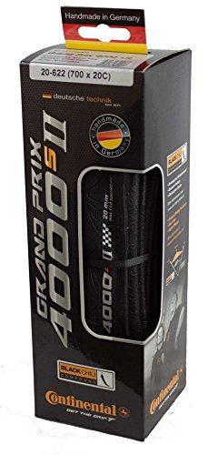 Continental Grand Prix 4000 II Bicycle Tire with Black Chili (700x20, Black)