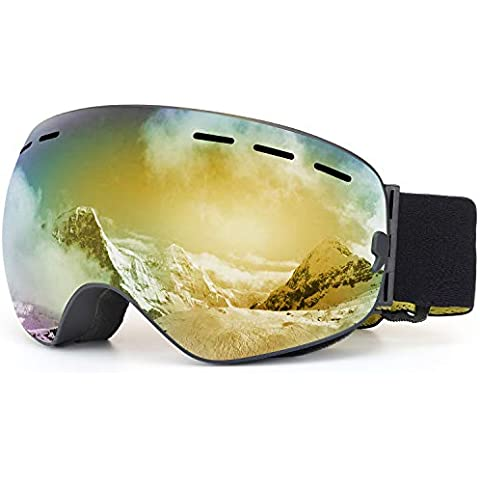 4fe06faa3a1d SPOSUNE OTG Ski Goggles Snow Snowboard Goggle Over Glasses with Anti-Fog  Spherical Dual Interchangable