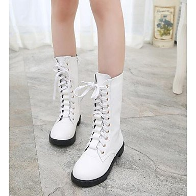 Booties Shoes Winter Black Ankle Casual Boots US6 Boots Flat Fashion Heel White EU36 Boots For Boots Women'S CN36 Leather RTRY UK4 Pu Red Nappa Snow 5O5wXH