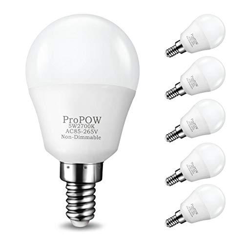 E12 LED Bulb,ProPOW 5W LED Candelabra Bulbs 40 Watt Equivale