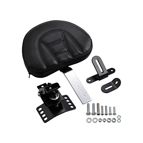 For 1997- 2017 Harley Touring Street Electra Glide Road King Adjustable Driver Plug-In Rider Backrest - Backrest Solo Driver