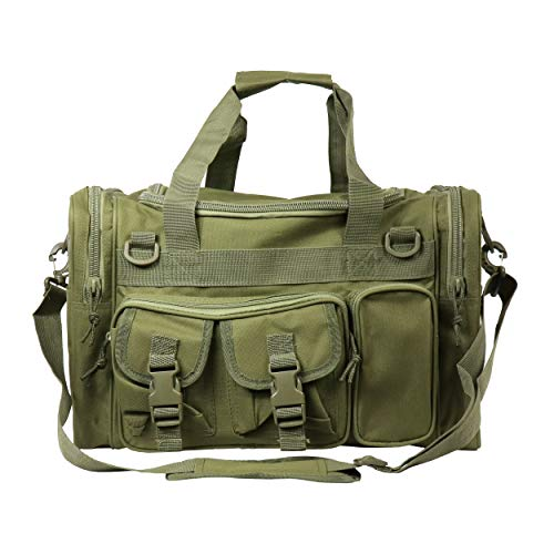 OSAGE RIVER Tackle Bag, Fishing Tackle Storage with Handle and Shoulder Carry Options, Crocodile Green
