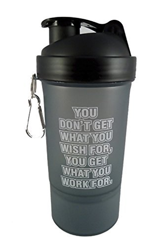 ALLIED SALES INDIA SG  301 Gym Shaker with Protein Compartment ; 600 Ml Water Bottles   Shakers