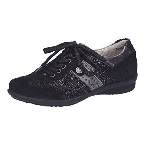 Lacets 564 Femme Ville à Noir de Chaussures pour 317 214008 Waldläufer HwRpq0HS