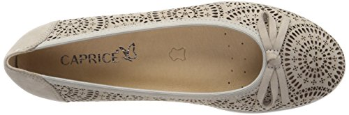 Grey Closed 204 Toe Ballet Flats Grey Women's Nubuc 22120 Caprice q7nYOq