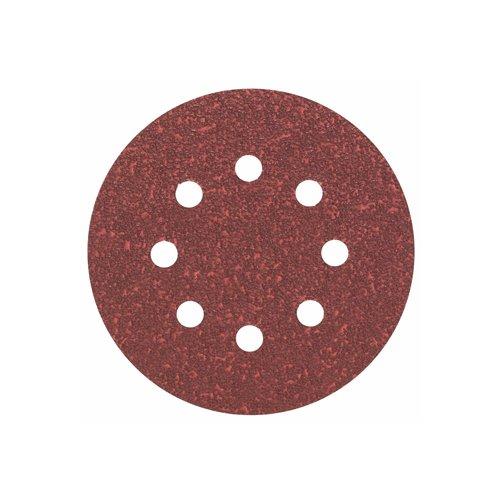 Bosch 2608605644 Dischi abrasivi per levigatrice roto orbitale Ø 125 mm, Grana 180, 5 pezzi