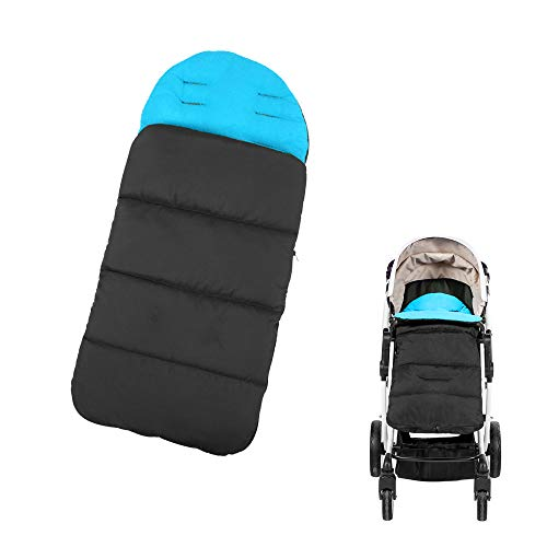Saftybay Multi-Functional Universal 4 in 1 Windproof Waterproof Removable Baby Stroller Winter Warm Foot Cover Mat Footmuff Cover Bunting Sleeping Bag Baby Blanket (Blue)