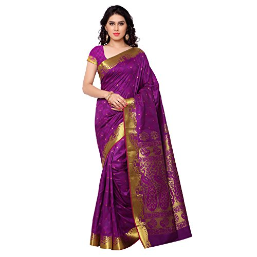 Janasya Women's Purple Kanchipuram Silk Saree (JNE09300-PURPLE-SR-JB6102PV)